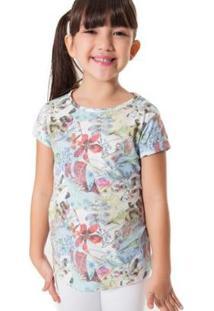 Camiseta Jardim Reserva Mini Feminina - Feminino-Azul
