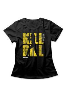 Camiseta Feminina Kill Bill Logo Preto