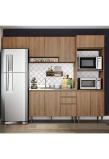 Cozinha Completa 4 Peças 10 Portas Com Basculante Be Mobiliário Madeira