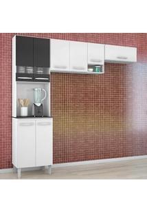 Cozinha Compacta 3 Peças Isadora - Poquema - Branco / Preto
