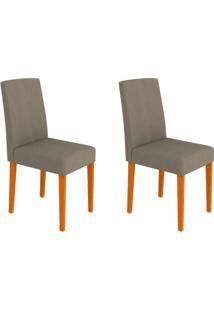 Conjunto Com 2 Cadeiras Heloíse Ii Ipê E Cinza