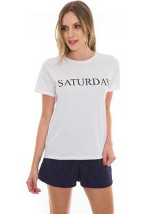 Camiseta Beautifull Hit Saturday Branca