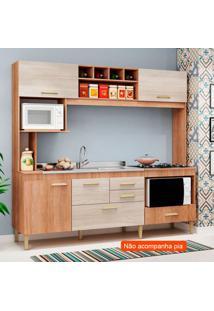 Cozinha Compacta Fênix 5 Pt 3 Gv Carvalho E Bege