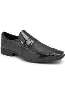 Sapato Social Masculino 937 Elástico Metal Leve Dia A Dia - Masculino-Preto