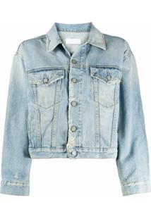 Boyish Denim Jaqueta Jeans Cropped Harvey - Azul