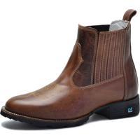 659fb0acb Bota Country Over Boots Bico Redondo Couro Tabaco