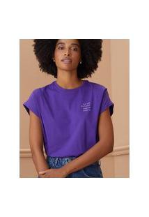 Amaro Feminino T-Shirt Que Toda Saudade, Roxo