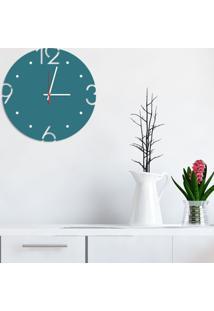 Relógio De Parede Decorativo Premium Ágata Com Números Vazados Médio