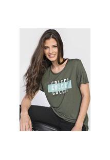 Camiseta Colcci Lettering Verde