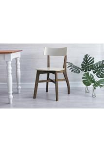 Cadeira De Mesa De Jantar Bella - Capuccino E Off White 44X51X82 Cm