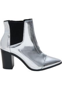 Bota Block Heel Prata | Schutz