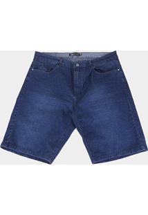 Bermuda Jeans Rip Curl Used Jeans Plus Size Masculina - Masculino-Azul