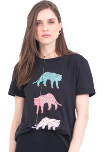 Camiseta Tri Cheetah 41Onze Preta - Kanui