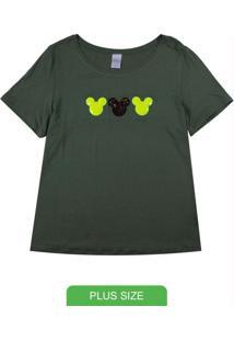 Blusa Em Viscose Com Detalhe De Patch Verde