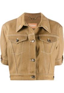 Chloé Cropped Stitched Jacket - Neutro