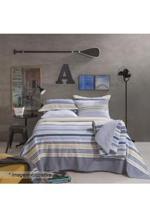 Jogo De Cama Home Design Solteiro- Cinza & Amarelo- Santista