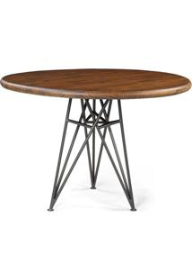 Mesa Jantar Tower Metal Grafite Rustic Brown 1,10 Mt (Larg) - 44906 Sun House