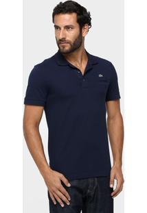 Camisa Polo Lacoste Piquet Bolso Masculina - Masculino-Marinho b08c78642e