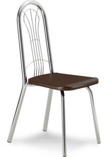 Cadeira Cromada Carmen Cacau