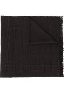 Tom Ford Cachecol De Lã Com Padronagem Xadrez - Marrom