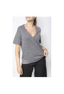 Camiseta Gola V Superfluous Eco Cinza
