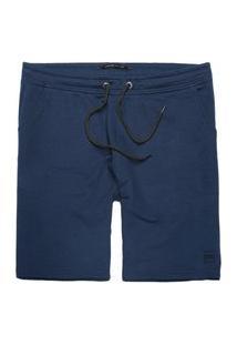 Bermuda Moletom King&Joe Confort Masculina Azul