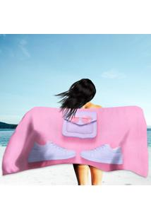 Toalha De Praia / Banho Pink