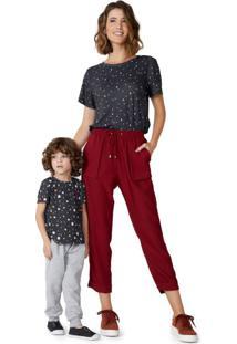 Camiseta Malha Basic Estampada Infantil