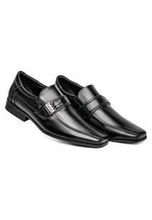 Sapato Preto Social Masculino Confortável Calce Fácil