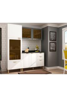 Cozinha Compacta Nevada V 6 Pt 4 Gv Branca E Grafite