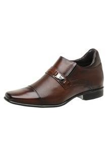 Sapato Rafarillo Linha Alth Você + Alto 7Cm Mogno 53002 Marrom
