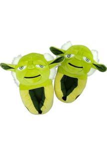 Pantufa 3D Ricsen Yoda - Unissex-Verde