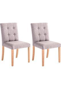 Conjunto Com 2 Cadeiras De Jantar Evening Cinza E Castanho