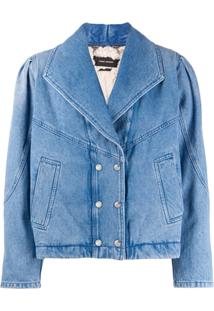 Isabel Marant Jaqueta Jeans Com Abotoamento Duplo - Azul