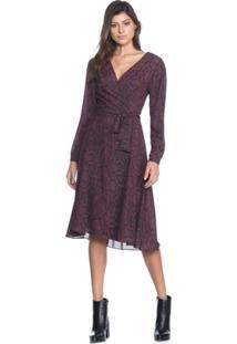 Vestido Amaro Transpassado De Crepe Leve - Feminino