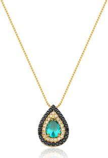 Colar Le Diamond Gota Verde/Dourado