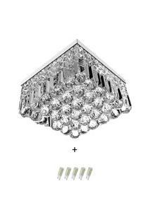 Lustre De Cristal Legitimo Wonderwall 30X30 Com Lâmpadas 600