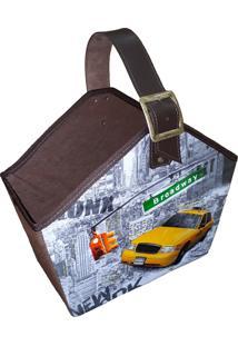 Cesto Organibox Revisteiro - Nova York 39X35X16