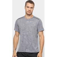 3aa255b9d7 Camiseta Nike Dri-Fit Miler Jac Gx Masculina - Masculino-Cinza+Branco