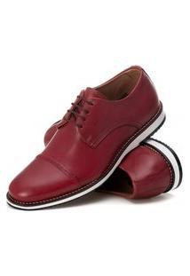 Sapato Brogue Premium Confort Bordô