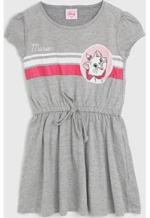 Vestido Fakini Infantil Marie Cinza - Tricae