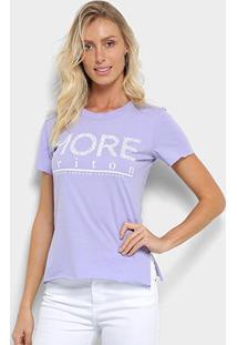 Camiseta Triton Estampa Logo Feminina - Feminino-Lilás