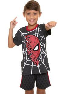 Pijama Manga Curta Infantil Menino Homem-Aranha