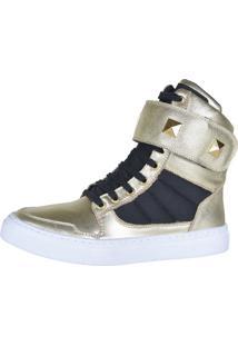 Sneaker Fitness Cheia De Marra 1003 Dourado - Kanui