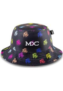 Chapéu Bucket Multcaps Mxc Colors Preto