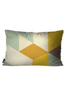 Capa Para Almofada Mdecor Abstrato 30X50Cm Amarelo