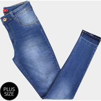 bb52969da Calça Jeans Plus Size Biotipo Skinny Alice Cintura Alta Feminina - Feminino