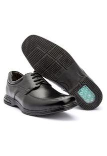 Sapato Esporte Fino Masculino Preto Com Amortecedor 18504
