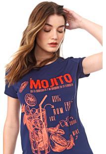 Camiseta Carmim My Mojito Azul-Marinho