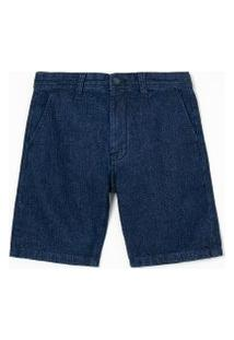 Bermuda Slim Jeans Liso | Marfinno | Azul | 40
